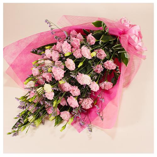ピンク系のお任せ花束